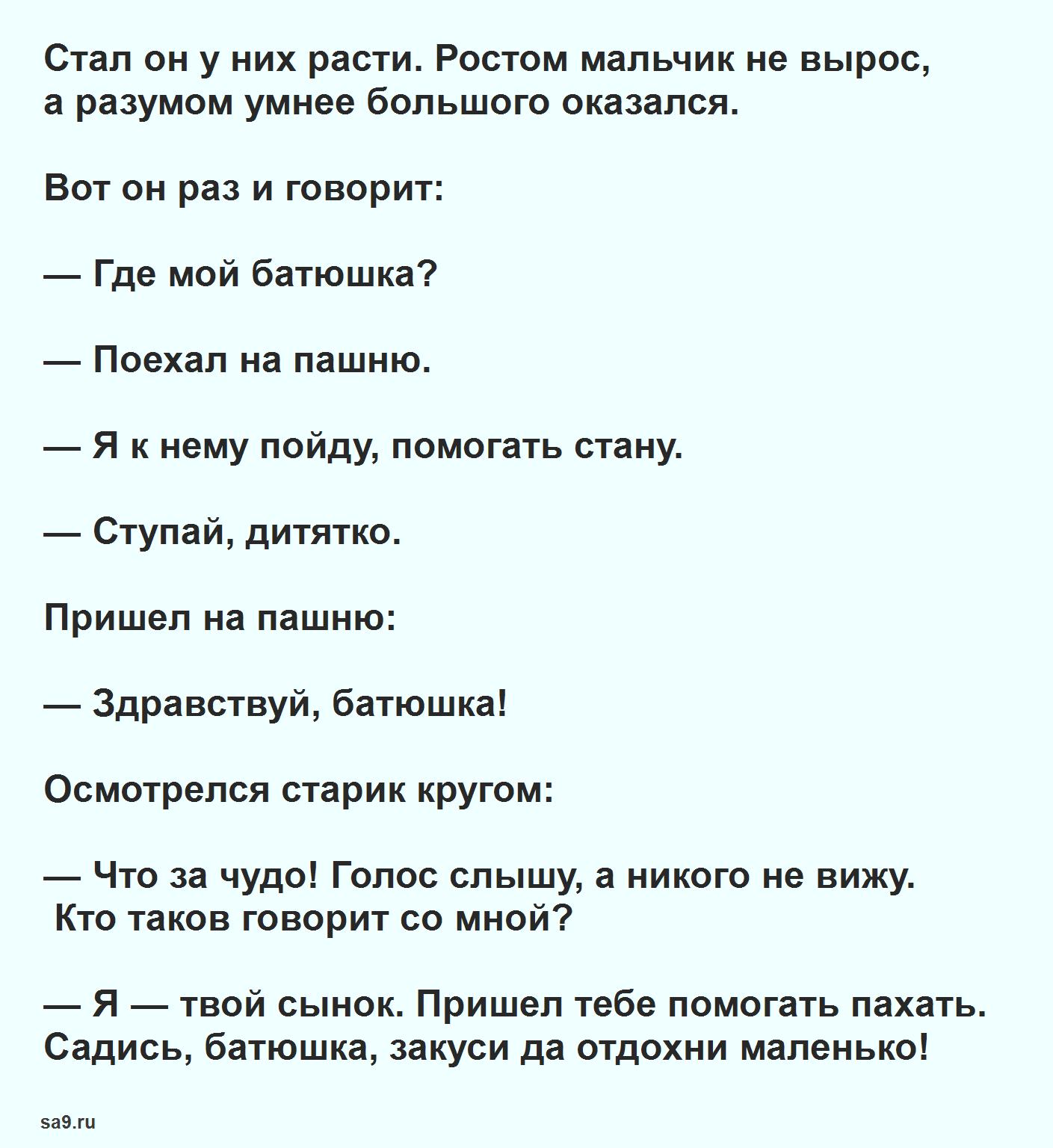Русская народная сказка для детей – Мальчик с пальчик