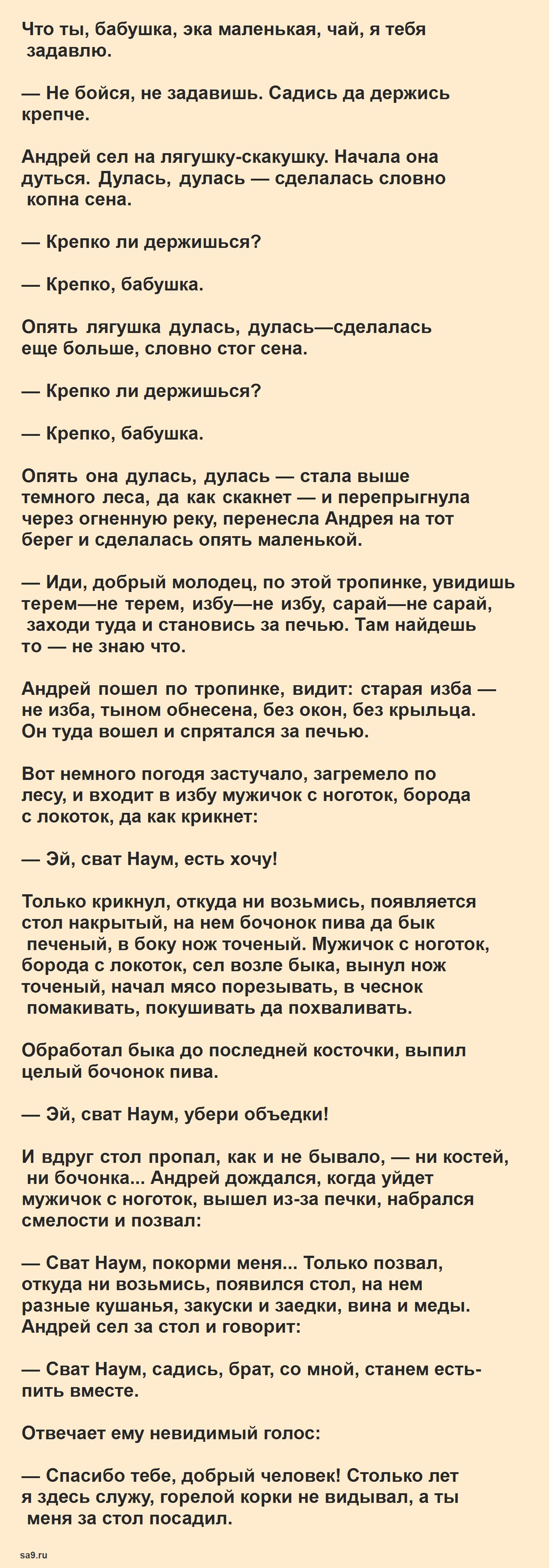 Поди туда не знаю куда, принеси то не знаю что - русская народная сказка, читать полностью
