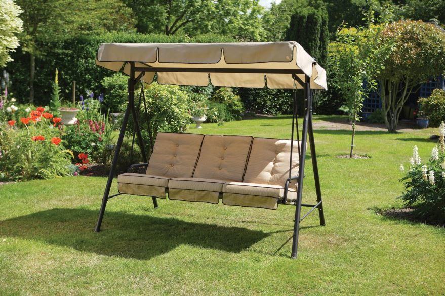 Садовые качели для дачи, фото