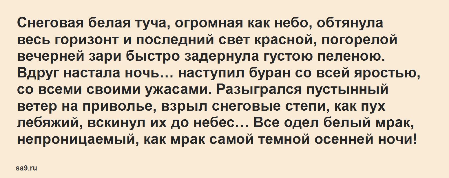 Буран – рассказ Аксакова, онлайн бесплатно