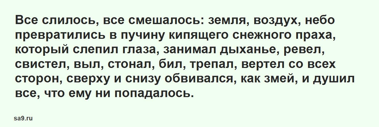 Рассказ Аксакова - Буран, для детей читать текст полностью