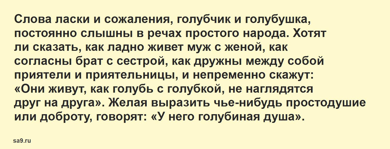 Рассказ Аксакова – Голуби, читать онлайн бесплатно