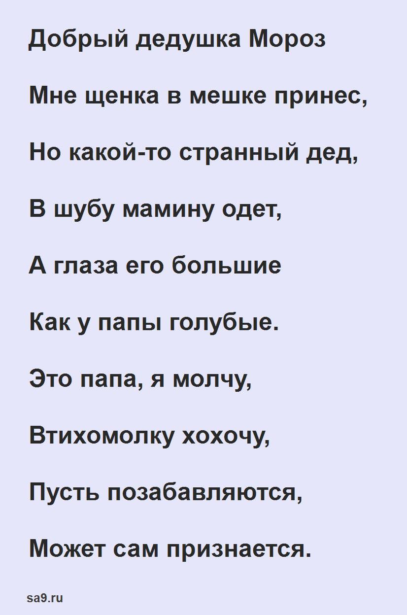 Стих про Деда Мороза для ребенка 5 лет