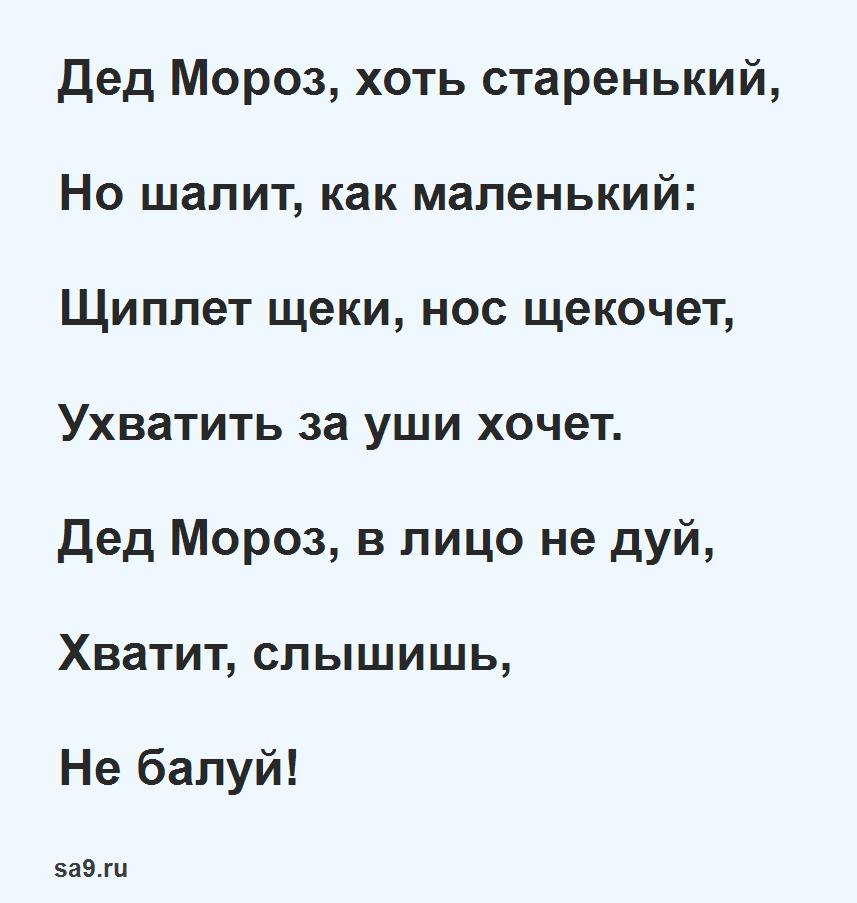 Стих про Деда Мороза для ребенка 7 лет