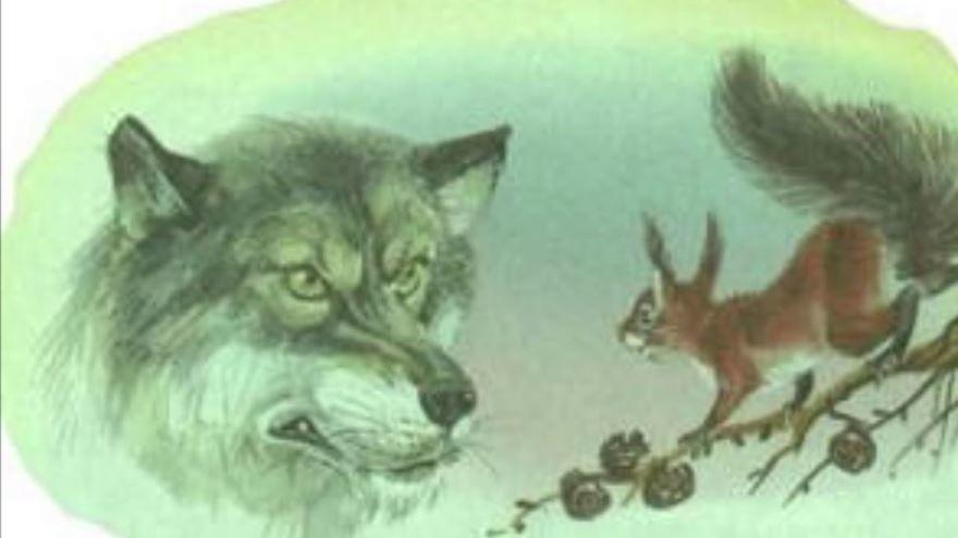 Сказка Белка и волк, Толстого Льва Николаевича
