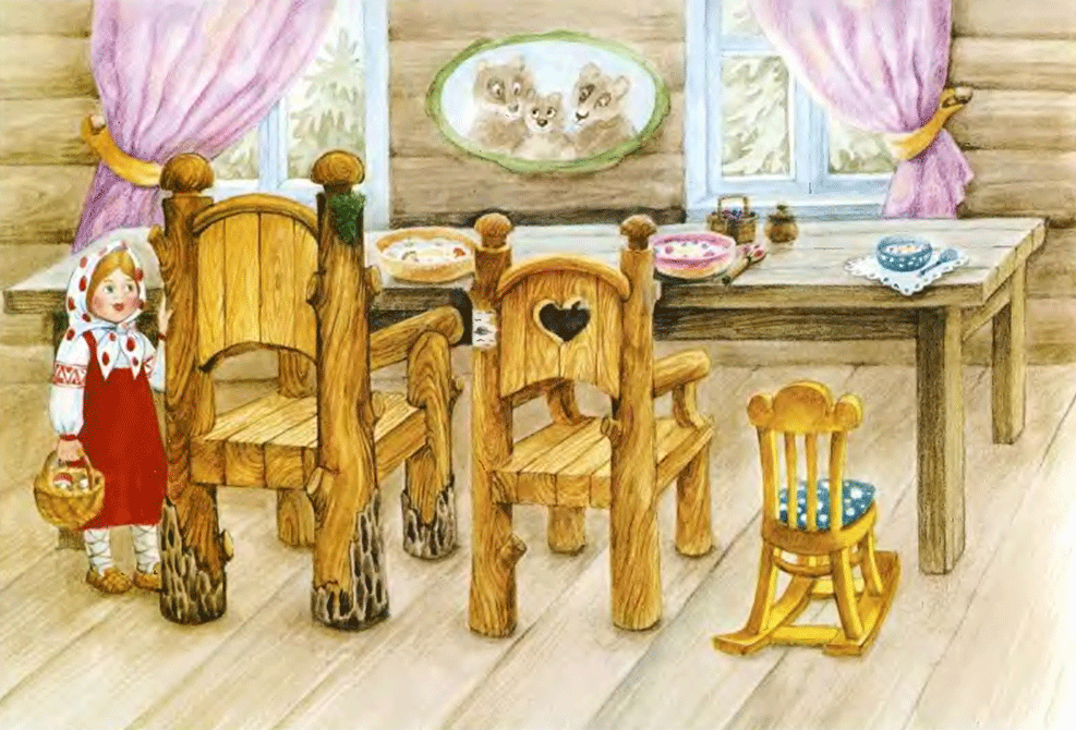 Сказка Три медведя, Толстого Льва Николаевича