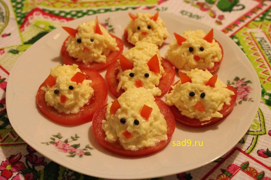 Закуска с сыром - Мышки, рецепт с фото