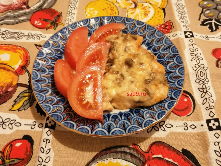 Курица с грибами, вкусный и простой рецепт