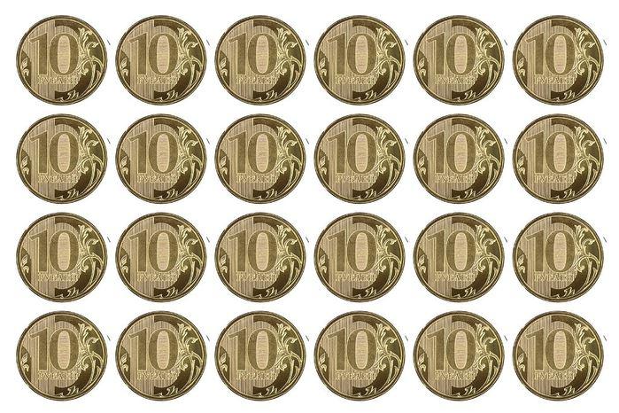 Монеты достоинством 10 рублей для игры в магазин