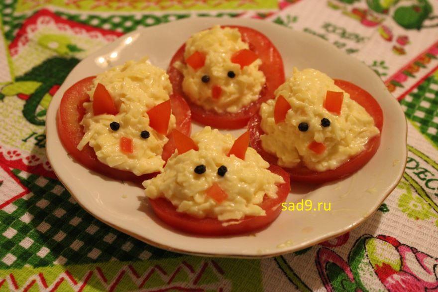 Праздничные закуски с фото - закуска с сыром Мышки