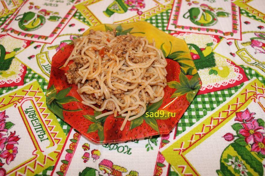 Спагетти с фаршем вкусный и простой рецепт пошагово с фото
