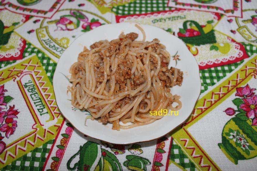 Спагетти болоньезе с фаршем рецепт пошагово с фото