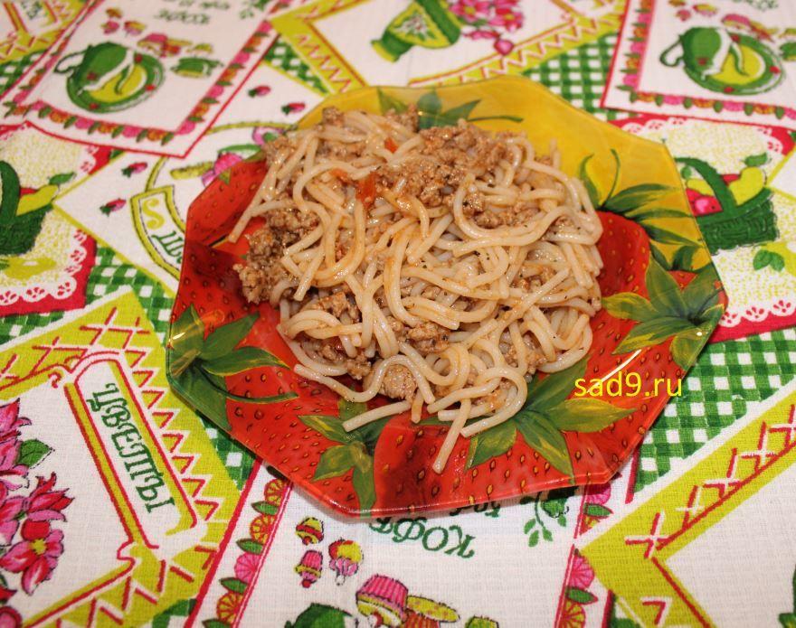 Спагетти с фаршем фото, сделанный в домашних условиях