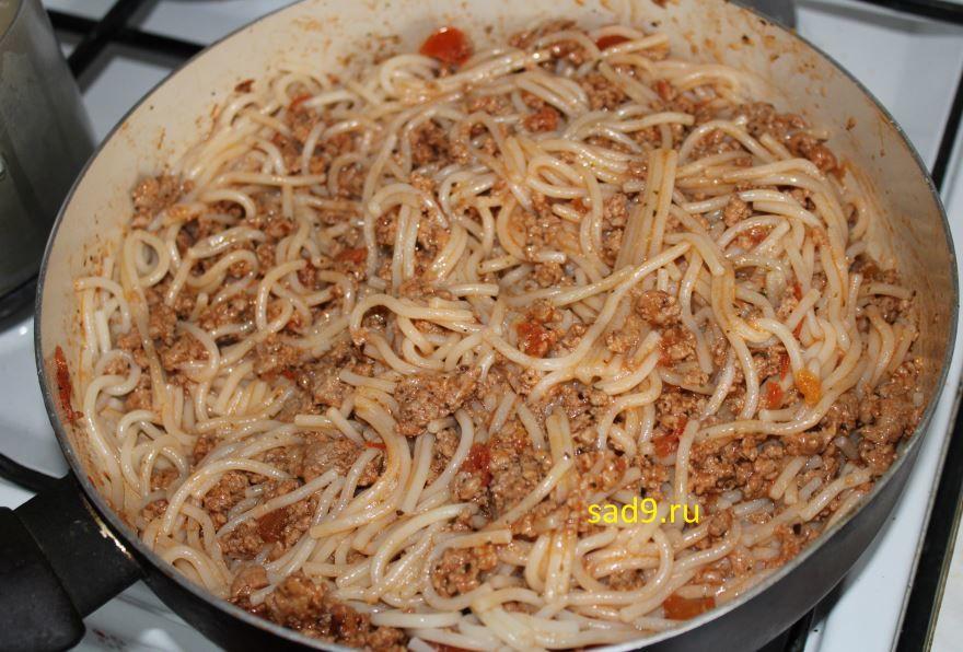 Спагетти с фаршем рецепт с фото пошагово