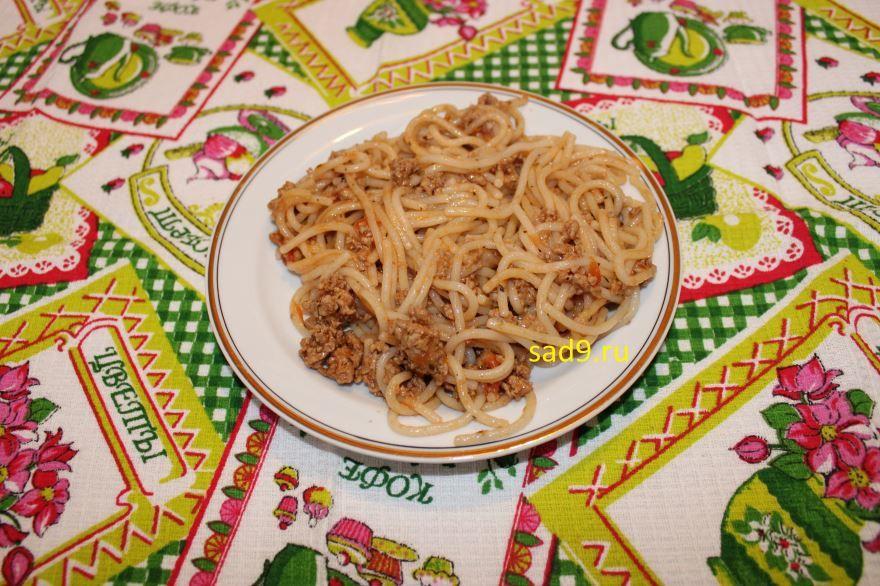 Спагетти с фаршем вкусный и простой рецепт