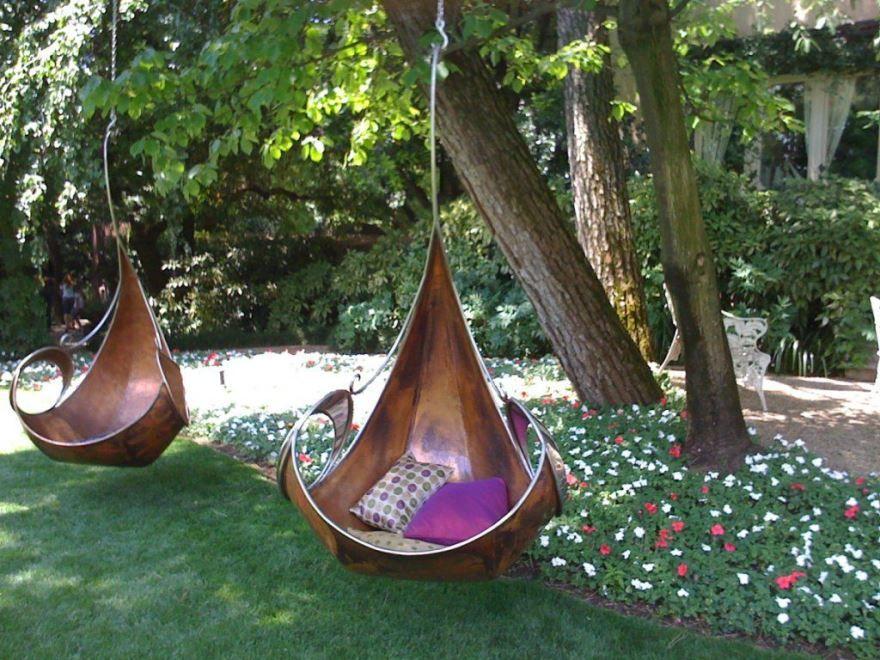Подвесные качели для дачи, фото