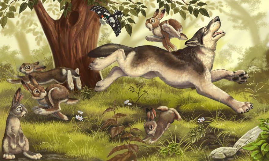 Сказка Про храброго Зайца - длинные уши, косые глаза и короткий хвост, Мамин-Сибиряк