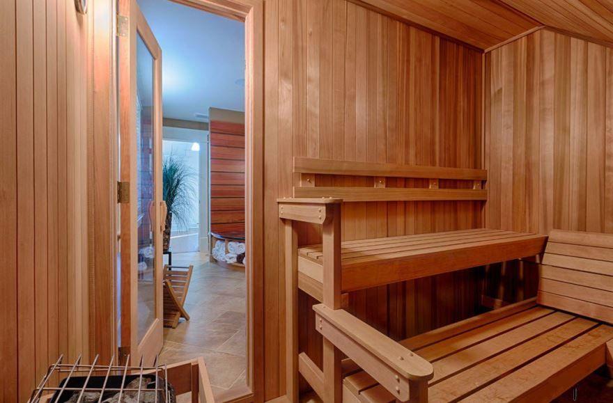 Красивая отделка бани, фото