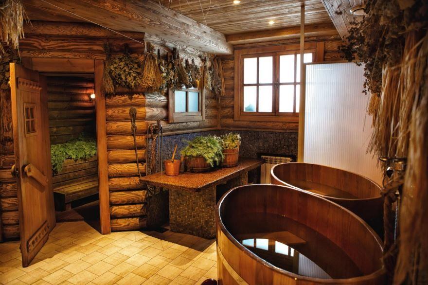 Баня из бревна, русская баня