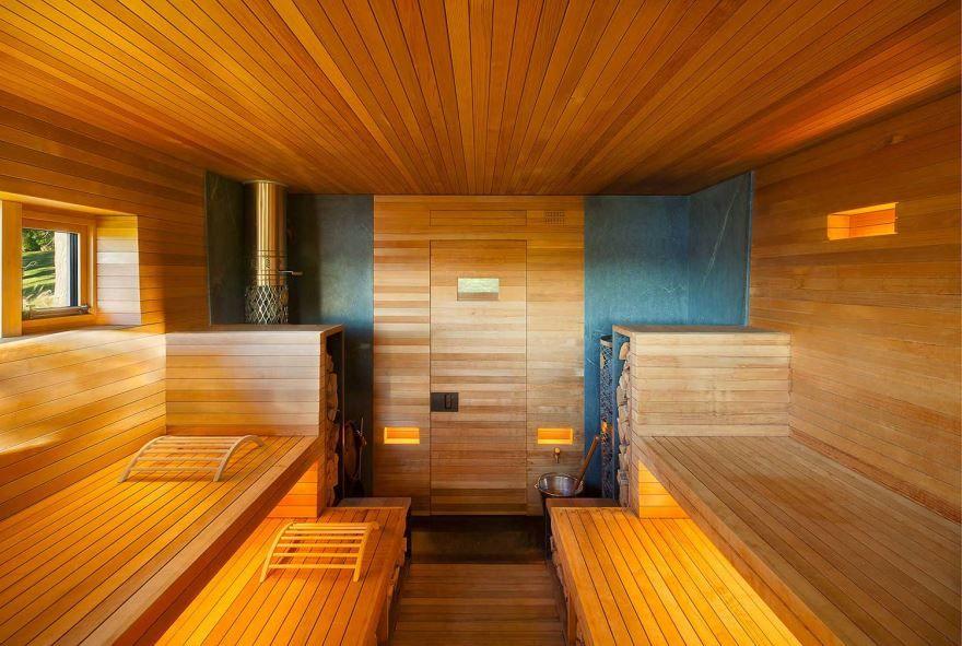 Красивая отделка русской бани изнутри, фото