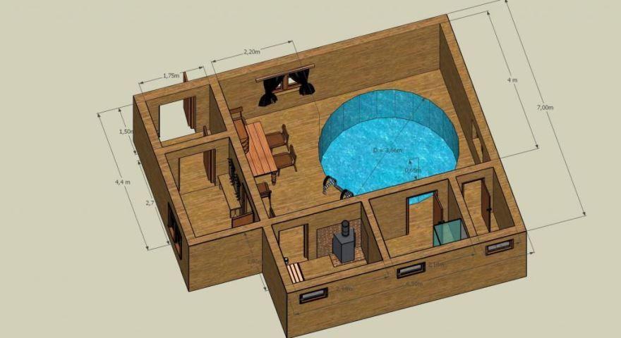 Планировка, проекты бани