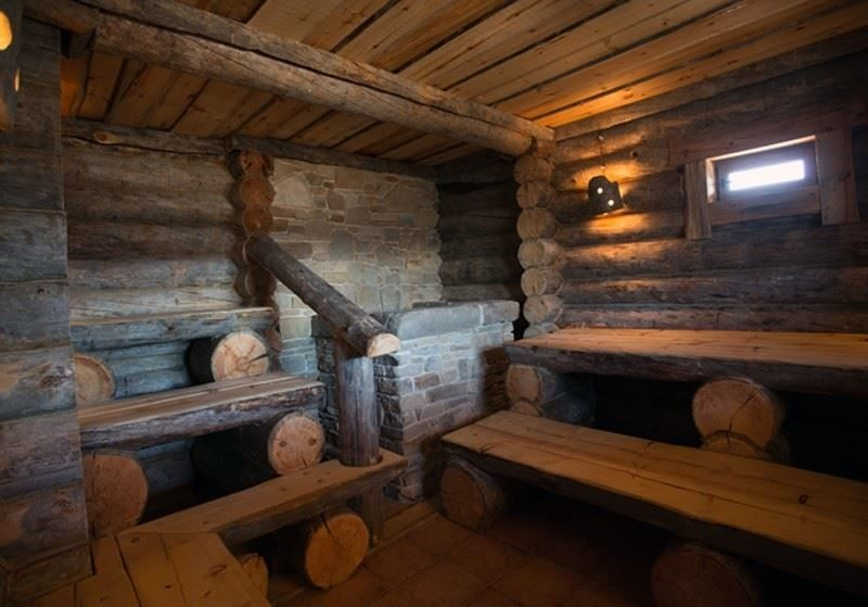Деревенская баня внутри фото