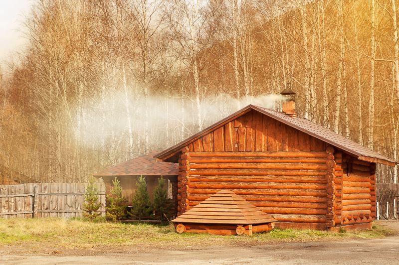 Деревенская баня фото