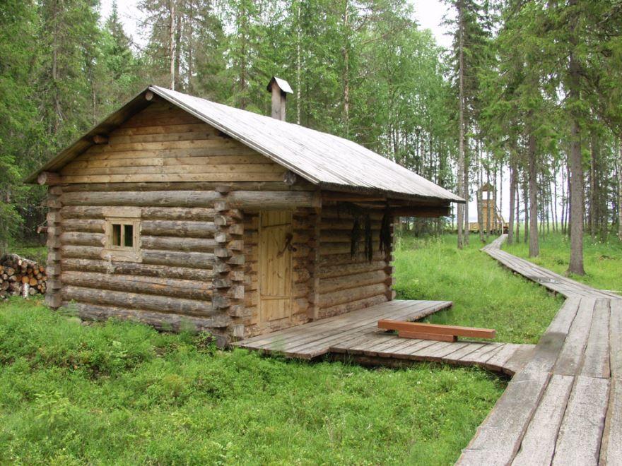 Деревенская домашняя баня
