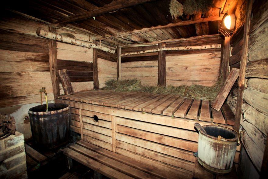 Русская баня в деревне