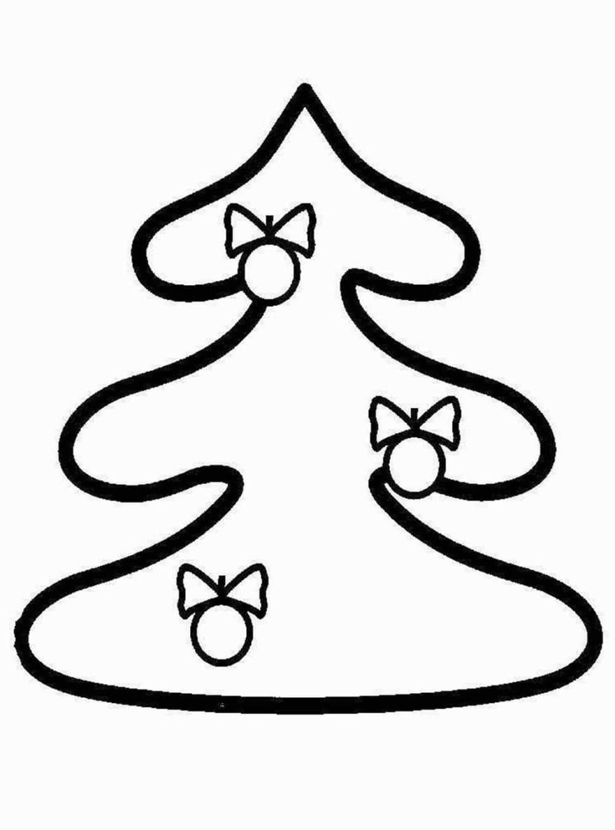 Новогодняя раскраска для девочки 2 лет, распечатать бесплатно