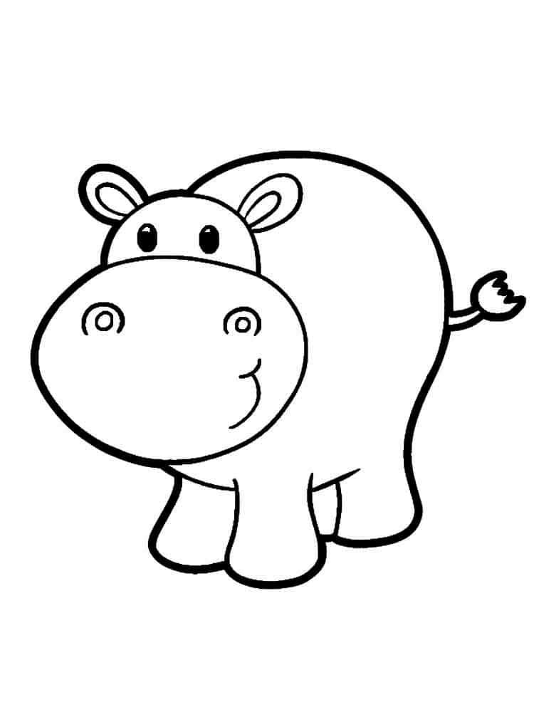 Легкая раскраска для девочки 2 лет, распечатать бесплатно