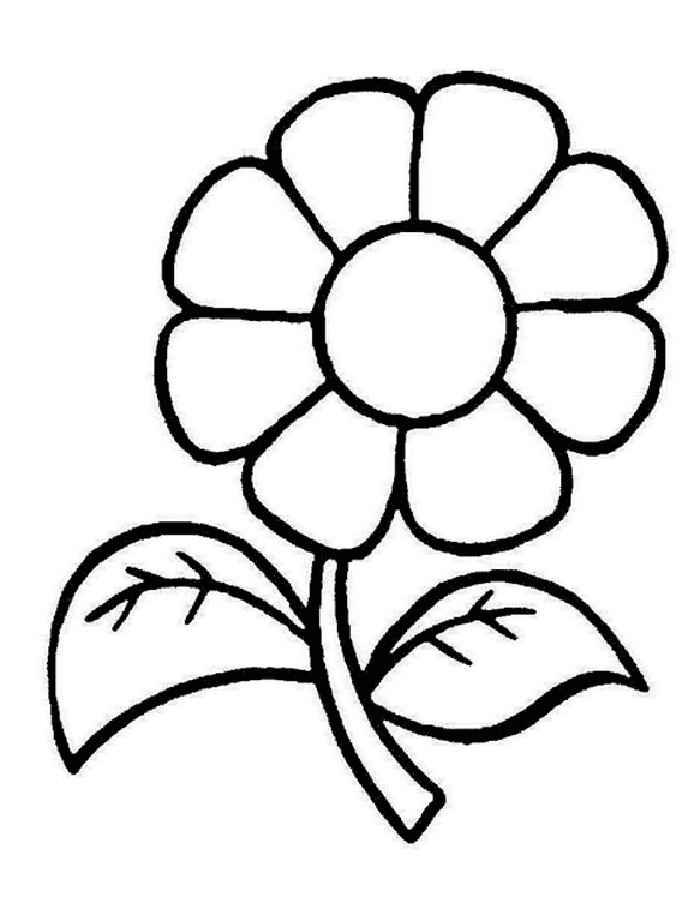 Раскраска для девочек 3 лет - цветок