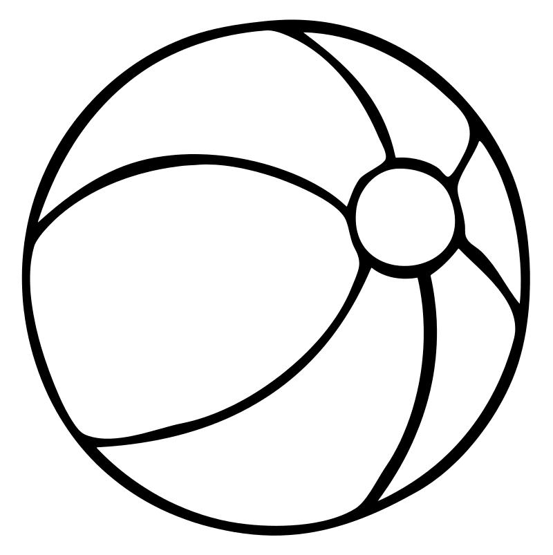 Раскраска для девочек 3 лет - мяч