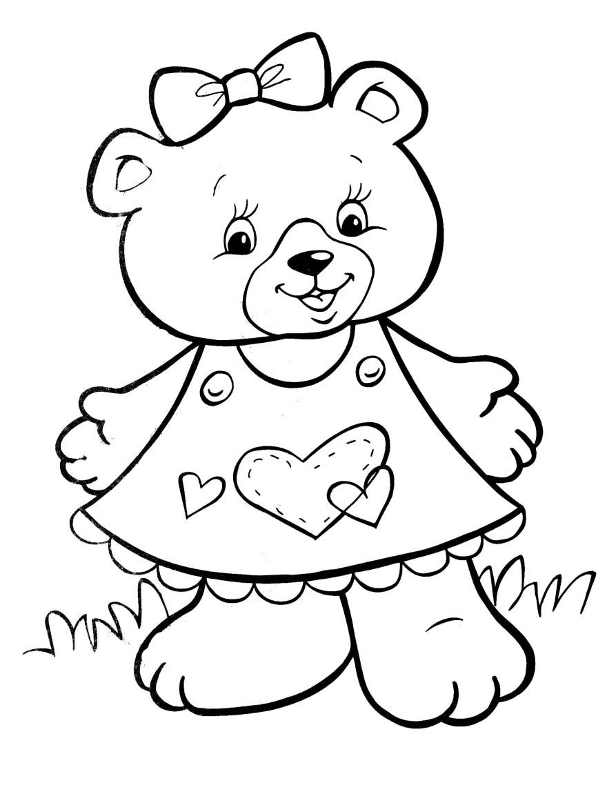 Раскраска для девочек 3-4 года, распечатать