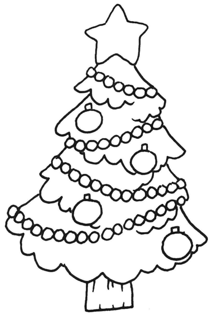 Новогодняя раскраска для девочки 4 лет, распечатать бесплатно