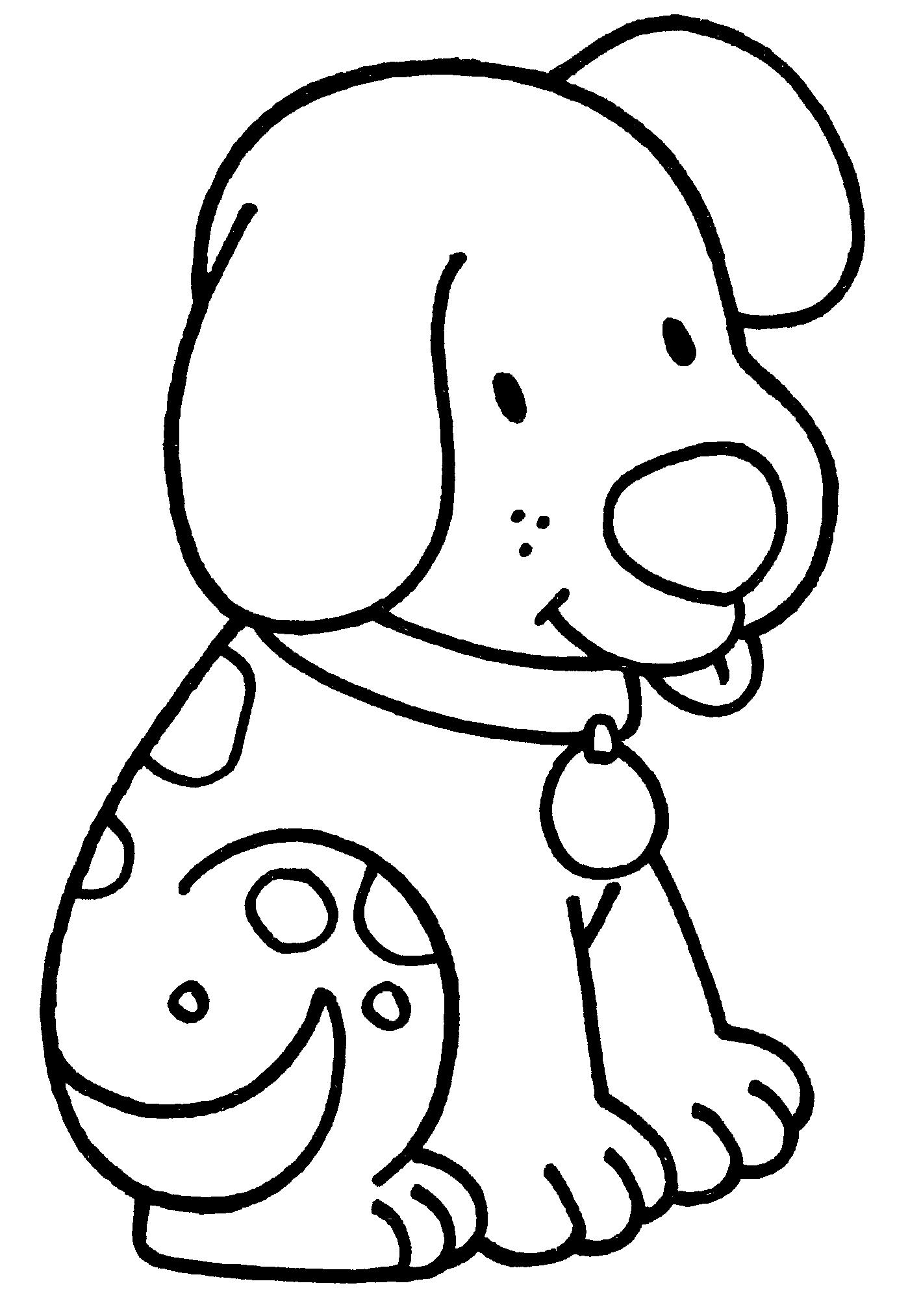 Раскраска для девочек 4 лет - собачка