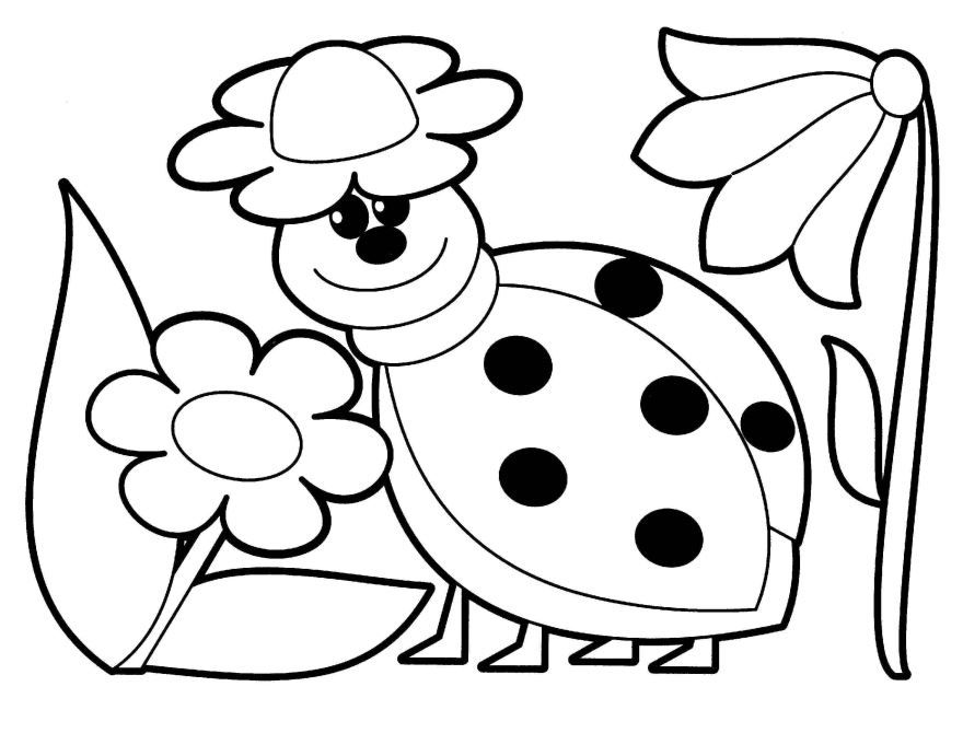 Раскраска для девочек 4-5 лет, распечатать