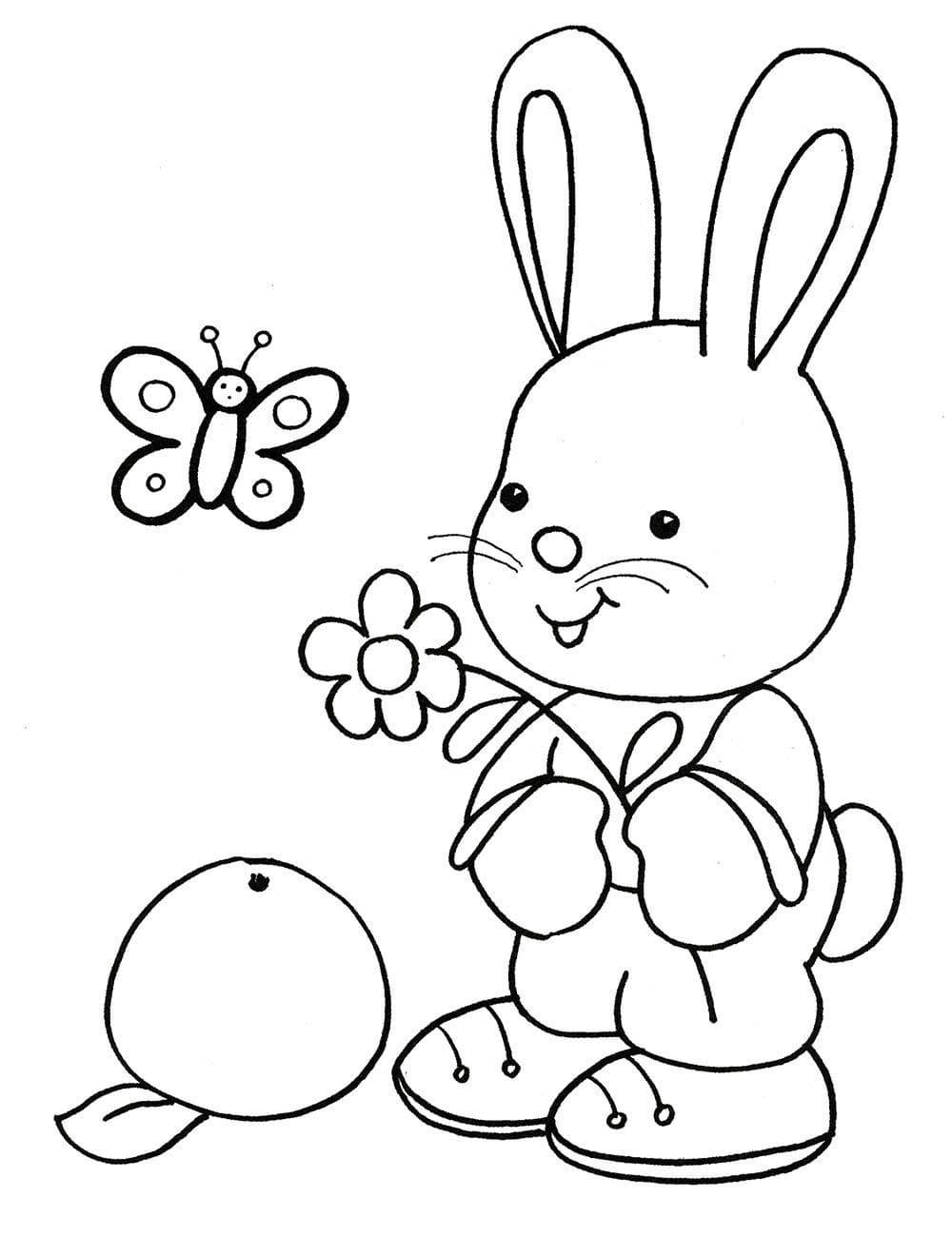 Легкая раскраска для девочки 4 лет, распечатать бесплатно