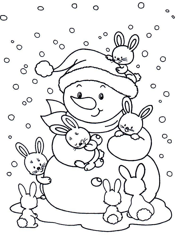 Новогодняя раскраска для девочки 5 лет, распечатать бесплатно