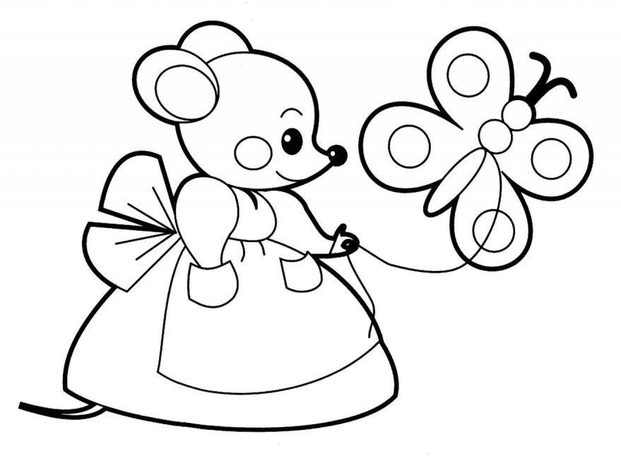 Раскраска для девочки 5 лет, распечатать