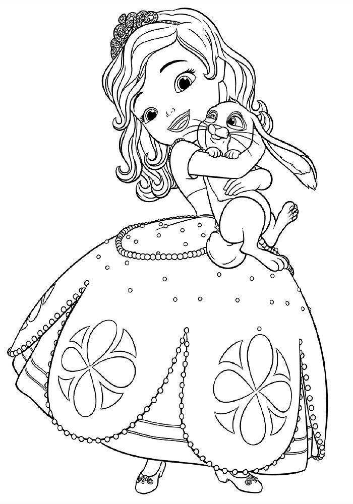 Раскраска для девочки 5 лет - принцесса