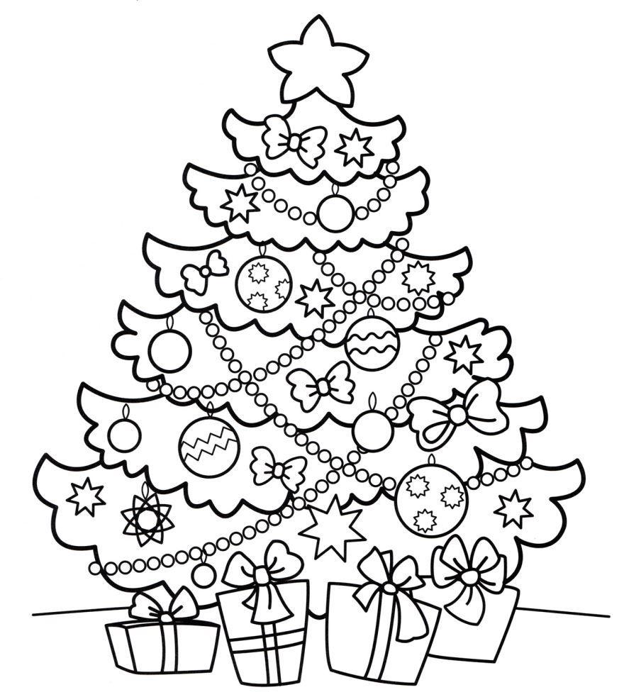 Новогодняя раскраска для девочки 5-6 лет, распечатать бесплатно