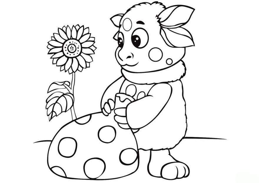 Раскраска для девочек 5 лет - Лунтик