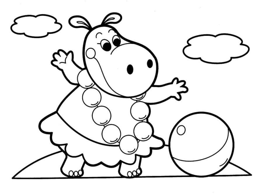 Легкая раскраска для девочки 5 лет, скачать и распечатать бесплатно