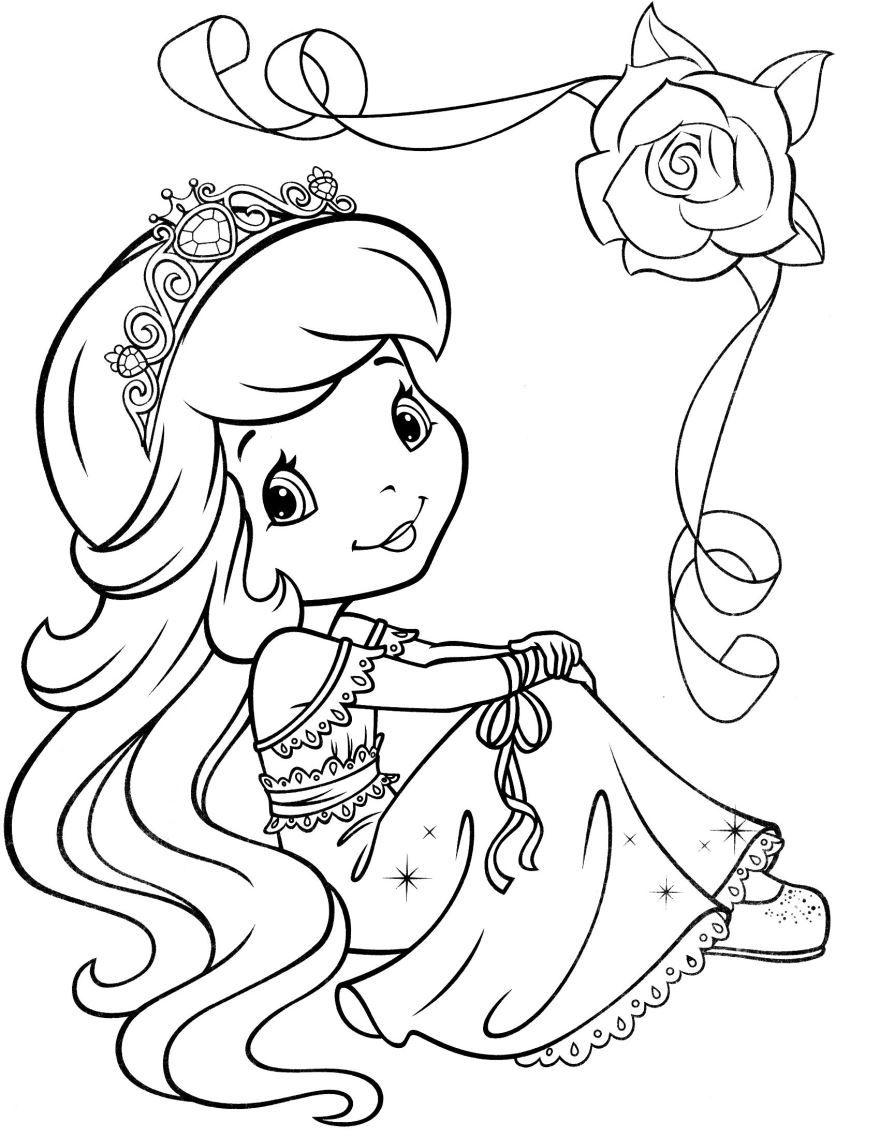 Раскраска для девочек 6 лет - принцесса