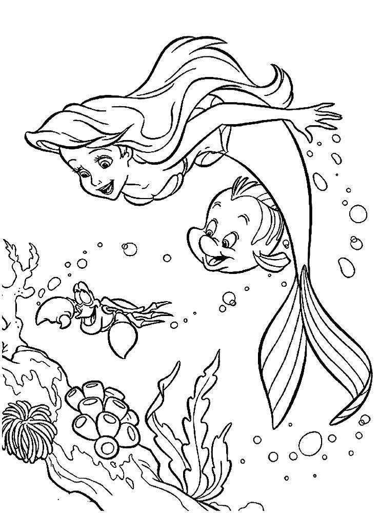 Раскраска для девочек 6 лет - русалка