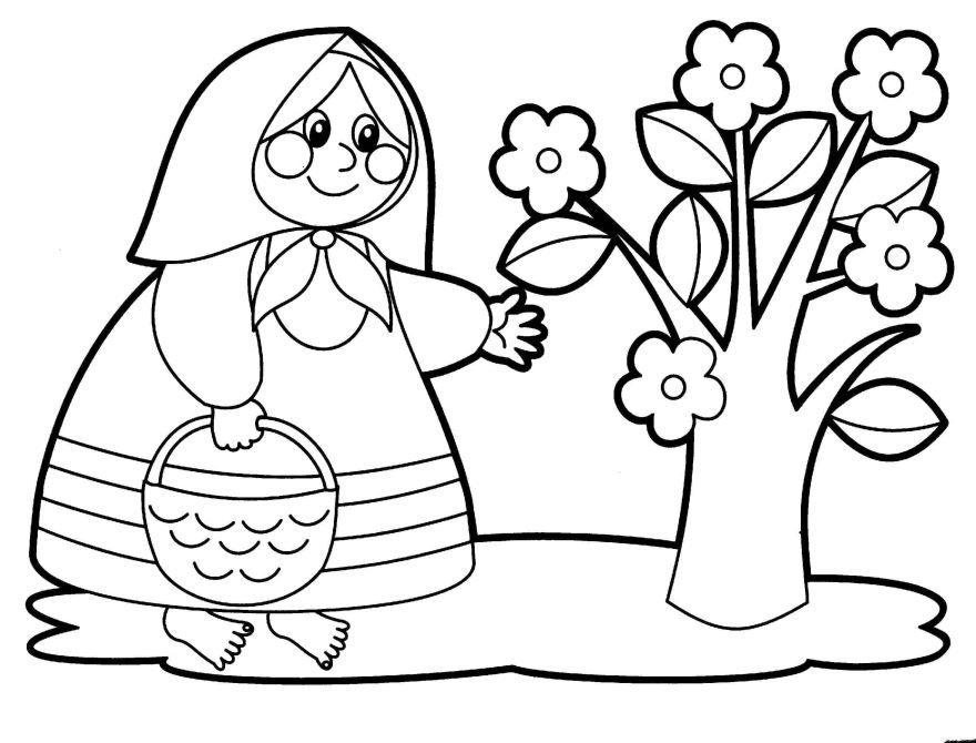 Раскраска для девочек 6-7 лет