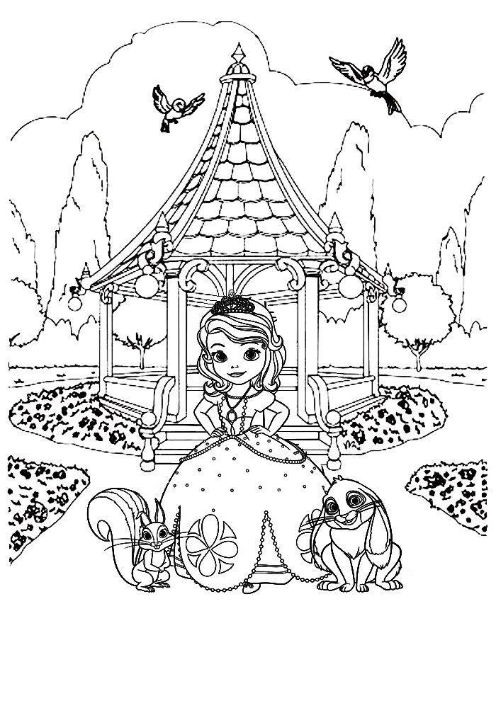 Раскраска для девочек 6 лет - сказки