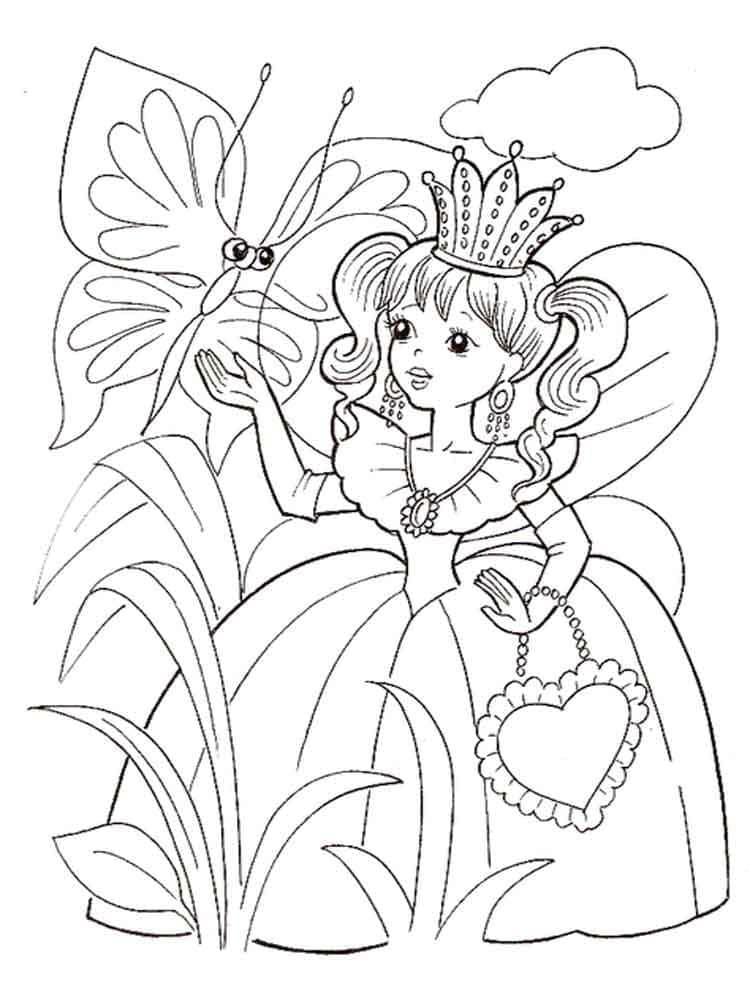Раскраска для девочки 6 лет - принцесса