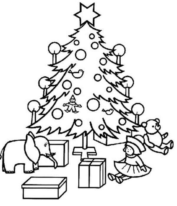 Новогодняя раскраска для девочки 6-7 лет, распечатать бесплатно